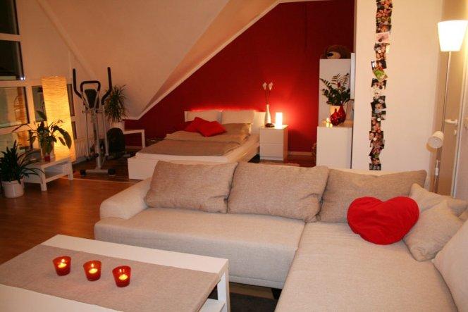 Wohnzimmer 'Wohn-, Schlaf- und Arbeitszimmer'