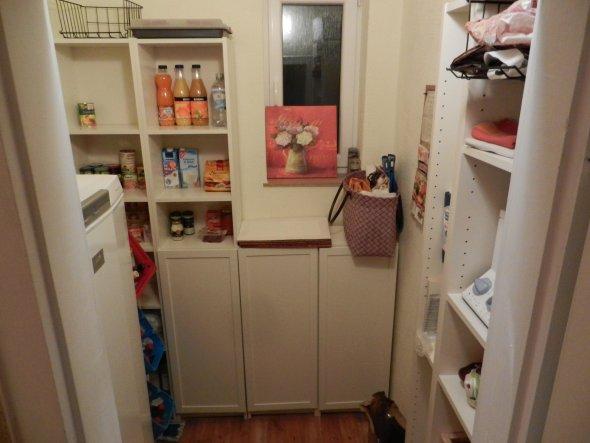 Küche 'Speisekammer vorher-nachher'