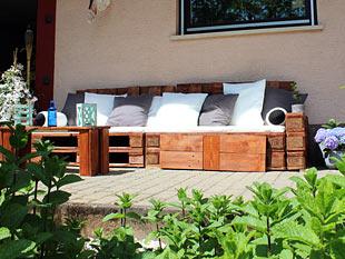 Europaletten Garten diy ideen für den garten loungemöbel aus paletten zimmerschau