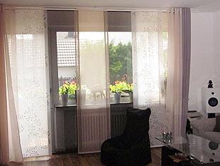 gardinen wohnzimmer beispiele. Black Bedroom Furniture Sets. Home Design Ideas