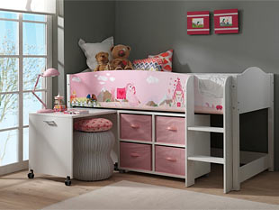 praktische l sungen f r ein kleines kinderzimmer zimmerschau. Black Bedroom Furniture Sets. Home Design Ideas