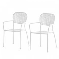 Garden Guerilla Gartenstuhl Fleury (2er-Set) - Metall Weiß