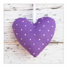 Kunstdruck Violett love - Größe: 30 x 30 cm, Pro Art