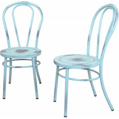 Home affaire Metall Stuhl �Michel� im 2tlg.Set, hellblau