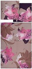 AURO HOMETEXTILE Bettwäsche, Auro Hometextile, �Solenzara�, mit großen Blumen natur 1x80/80 cm Aus 100% Baumwolle hergestellt