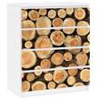 Bilderwelten Möbelfolie für IKEA Malm Kommode �No.YK18 Baumstämme�, Farbig