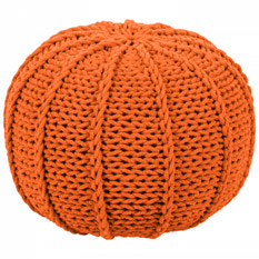 Pouf Rosita - Webstoff - Orange, Red Living