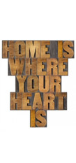 Wandbild Home is where your heart is, Pro Art