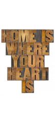 Wandbild Home is where your heart is, Pro Art