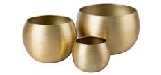 Windlicht Gosnold (3-teilig) - Aluminium - Gold, Red Living