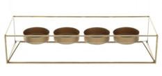 Kerzenhalter Rosso - Glas / Metall - Gold, Leonardo
