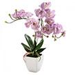 Kunstpflanze Orchidee I - Kunststoff / Keramik - Flieder, Pure Day